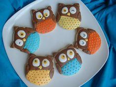Owl+Cookies++1+dozen++Halloween+cookies+by+SweetArtSweets+on+Etsy,+$39.00.    Use tulip cutter