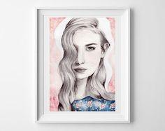 Fashion Illustration-PRINT by YoyoArtLab, $35.00