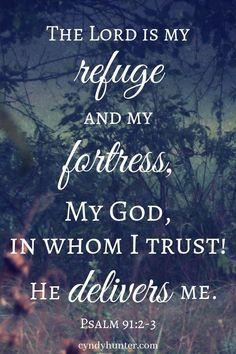 Bible Verses to Live By:The Lord delivers me out of all trials. He's done it every time. It's only a matter of when. God is faithful and He is my dwelling place of refuge. Inspirational Bible Quotes, Biblical Quotes, Bible Verses Quotes, Spiritual Quotes, Faith Quotes, Prayer Scriptures, Prayer Quotes, La Sainte Bible, Jesus Christ Quotes