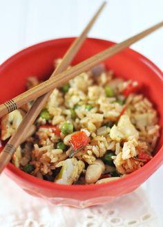 Post image for Vegetarian Vegetable Bean Fried Rice