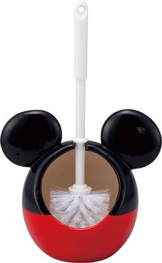 Disney toilet brush holder (with a brush) Mickey Mouse (japan import) Disney Mickey Mouse Bathroom, Mickey Mouse House, Mickey Mouse Kitchen, Mickey Bad, Mickey Minnie Mouse, Cozinha Do Mickey Mouse, Mickey Decorations, Disney Furniture, Disney Bedrooms
