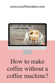 How to make coffee without a coffee machine - using drip bag coffee: A drip coffee bag is a no-fuss, almost like instant coffee, but in this case, you are getting coffee from coffee grounds instead of instant coffee. Coffee Art, Drip Coffee, Coffee Machine, Coffee Maker, How To Make Coffee, Instant Coffee, French Press, Bag, Coffee Maker Machine