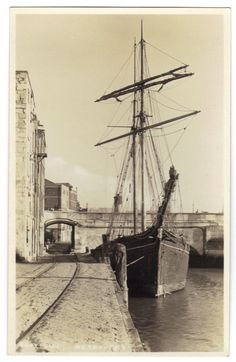 Weymouth Dorset c1920s RPPC: The Quayside Weymouth: Old Sail Ship, Arch, Rails Weymouth Harbour, Weymouth Dorset, Dorset Travel, Portland Dorset, Kingdom Of Great Britain, Republic Of Ireland, Local History, Tall Ships, Old Photos
