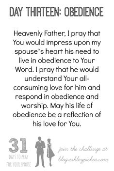 I love this prayer for my spouse from the 31 Days to Pray for Your Spouse Challenge #marriage