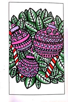 Oh so ornamenty ha ha ha 😊😊😊 30 Pages in 30 Days Day 11 Artist: Sarah Clark  Book: Coloring Christmas (Pocket Edition) #sarahrenaeclark #coloringchristmas #pocketedition