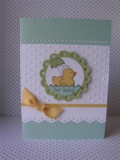 StampinOvation: Easy Events Baby Card