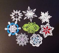 Snowflakes. Quilling. By Canan Ersöz.