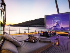 Sailing on the Costa del Sol Luxury Spa, Luxury Yachts, Luxury Life, Luxury Yacht Interior, Outdoor Cinema, Outdoor Theater, Yacht Design, Arquitectura Wallpaper, Miami Beach Edition