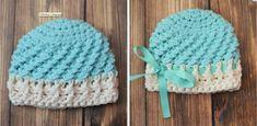 Preemie Textures Beanie -- Free Preemie Crochet Pattern