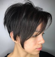 Long Layered Pixie With Undercut