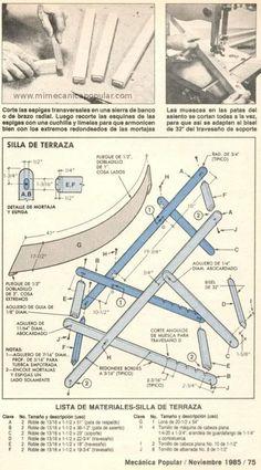 Planos para hacer reposeras de madera con lona - Pesquisa Google