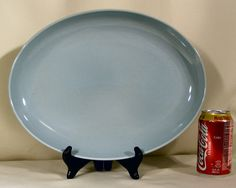 Russel Wright Iroquois Casual China Platter Ice by BricaBracBazaar