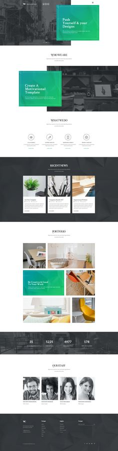 Woodcraft – One Page Creative Portfolio is minimal clean and modern PSD Templates for anyone who wants to build amazing & modern portfolio website.It is suitable for any corporate, creative freelan...
