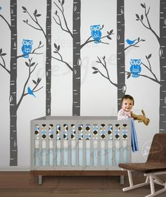 Children Wall Decal Wall Sticker- Forest  Tree  - dd1045. $98.00, via Etsy.