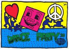 Keith Haring party flyer