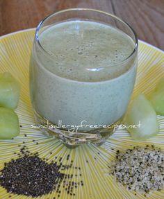 Spinach Honey Dew Melon Smoothie (Vegan/ Paleo/ Dairy Free/ Refined Sugar Free/ Nut Free)