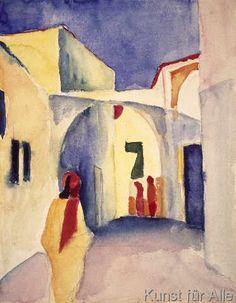 August Macke - Blick in eine Gasse in Tunis