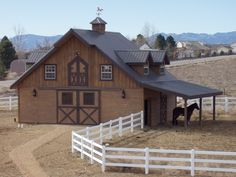 I want my barn close to the house with a wood rail paddock running from the barn and behind my house