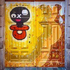 It has an aura #graffiti #streetart #barcelona #hanshansenbcn #inselly