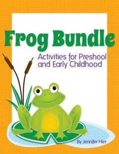 Would you like some new activities to liven up your pre-k unit on frogs, ponds or spring? This is a money-saving bundle including 4 of of my frog . Daycare Themes, Kids Daycare, Preschool Themes, Preschool Math, Preschool Projects, Daycare Ideas, Classroom Themes, Frog Activities, Frog Theme