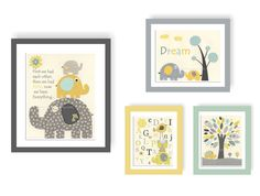 Baby Room Decor Nursery Art baby boy safari abc by DesignByMaya, $70.00