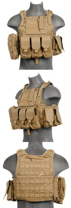 Chest Rigs and Tactical Vests 177891: Lancer Tactical Strike Plate Carrier Vest Ballistic Molle Pouch Swat Ca-305T Tan -> BUY IT NOW ONLY: $79.75 on eBay!