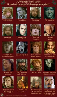 LotR guide to receiving Christmas gifts #lotr #christmas