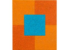 Orange Orange Cobalt Teal by Louise P. Sloane