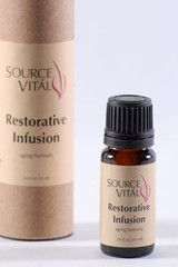 Aging Formula: Restorative Infusion contains a blend of aromatic essential oils, selected for their stimulating, and hydrative powers. This Infusion moisturizes & repairs mature, aging, & sun-damaged skin.