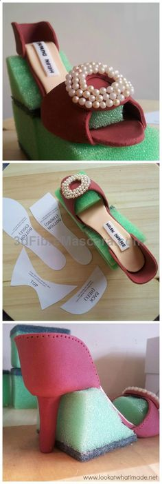 Gumpaste tip: Use cut-up sponges to support your gumpaste creations. Not only do they support the shape really well, but they also allow air to circulate, cutting down on drying time. #lookatwhatimade #gumpaste #cake #highheels #sexy #ladies #women #ladyshoes #shoes #lush #smooth #fashion #feet #legs #glamour