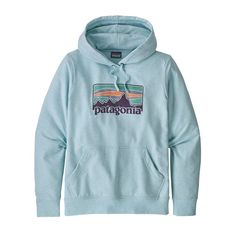 Patagonia Women's Femme Fitz Roy Hoodie Crevasse Blue S Teen Fashion Outfits, Trendy Outfits, Cute Outfits, Prep Outfits, Work Fashion, Fasion, Fashion Clothes, Hoodie Sweatshirts, Hoody