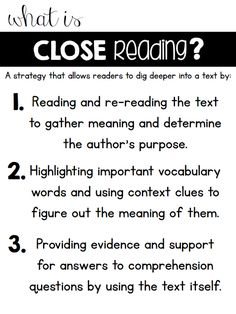 Handy guide to Close Reading.