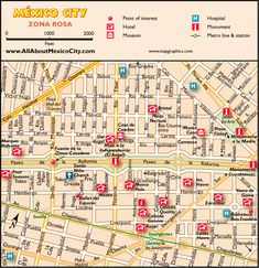 awesome Map of Mexico City Tourist