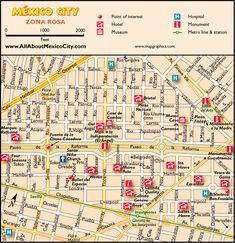 Mexico City, la Zona Rosa