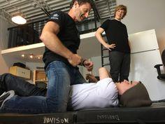 Stunt rehearsal with Neil Davison and Dylan Everett