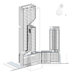 Reforma Towers, Designed by Richard Meier & Partners Architects with Diametro Arquitectos