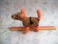 Needle Felted Dog Small Wool Dog Handmade Dog by FeltWithAHeart