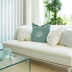 Love these understated beachy pillows!