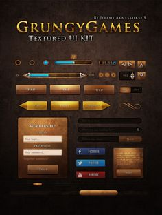 Ui Kit Grungy Games by ~Skiiks on deviantART