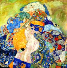 The Cradle, The Baby, by Gustav Klimt, 1917-18. Oil on canvas, 110 x 110 cm | National Gallery, Washington