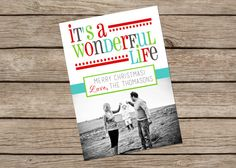 It's A Wonderful Life- Custom Photo Christmas Card on Etsy, $12.00