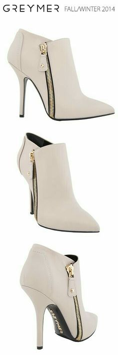 82133cc8380c GREYMER SHOES fall-winter A rock - glamour napa calfskin ankle boot with  zip in gold coloured metal.