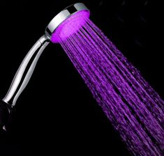 Bathroom Fixtures Colorful Led Shower Head 7-color Changing Shower Head No Battery Led Waterfall Shower Head Round Bathroom Accessories Showerhead Exquisite Traditional Embroidery Art