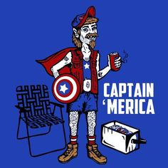 Captain Merica T-Shirt More Info Behind Captain Merica T-Shirt A whole new way of saying America. As America falls into the category of a nation, Merica is the whole experience of America summed up in