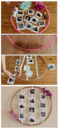 Geschenke 18 Chewable Ideas for DIY Photo Frames - Photo Frames # for Photos in the Drawer Photos taken on special occasions will. Diy Photo, Cadre Photo Diy, Marco Diy, Family Photo Frames, Photo Frames Diy, Picture Frames, Photo Frame Ideas, Photo Frame Decoration, Diy Home Crafts
