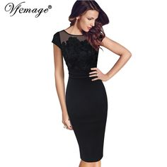 Vfemage Women Sexy Elegant Floral Crochet Lace Ruched Party Evening Sheath Special Occasion Bridemaid Mother of Bride Dress 3197 //Price: $45.98 & FREE Shipping //     #partysuppliesplate