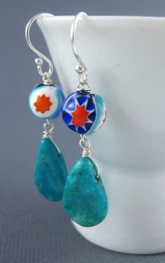 Vintage Milano glass beads with Nacozari turquoise drops; $28 at http://www.facebook.com/AccessoriesbyMelissaAbram
