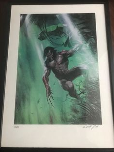 Catawiki, pagina di aste on line  Gabriele Dell'Otto - Wolverine Signed Limited Edition Print #8 - Marvel Europe 1998