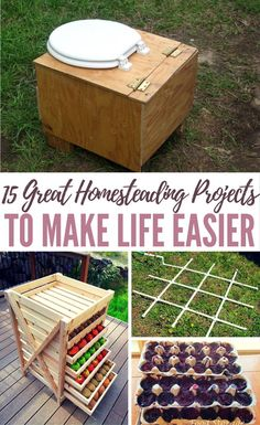 15 Great Homesteading Projects To Make Life Easier Homesteading projects are not only fun, they are rewarding when they can add another element of self-sufficiency to your arsenal. DIY to Try has a collection of 15 homesteading project tutorials that Homestead Farm, Homestead Survival, Survival Prepping, Survival Skills, Survival Gear, Doomsday Prepping, Survival Shelter, Homestead Layout, Survival Books