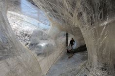 Stuck-Together Structure: A Packing Tape Design Installation